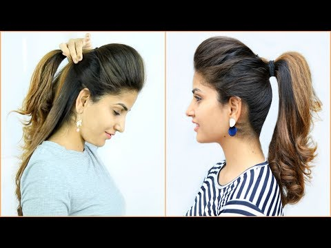 NEW High Puff Ponytail Hairstyles - 4 Easy Ponytails For School, College, Work | Anaysa