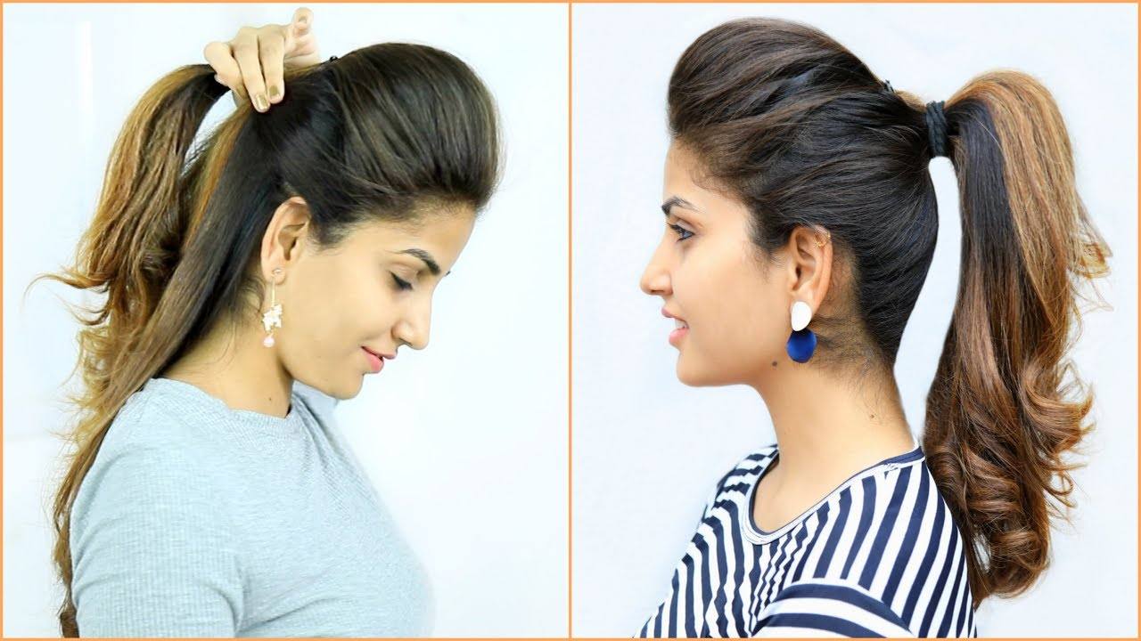 high puff ponytail hairstyles