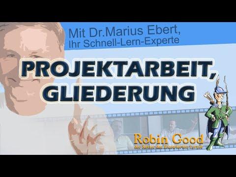 Video Projektarbeit, Gliederung
