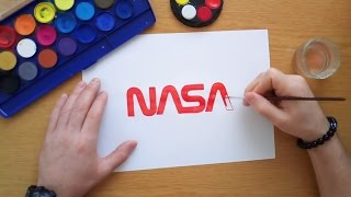 How to draw the old NASA logo