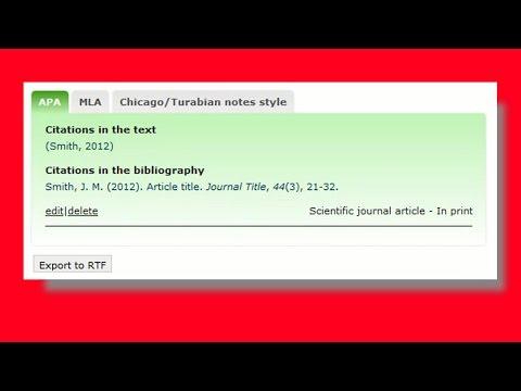 Tutorial for how to write citations . c o m