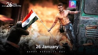 PicsArt 26 January Special Manipulation editing || Republic day editing in Picsart Step by Step