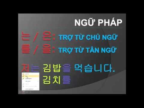 Học tiếng Hàn #8 Bạn đang làm gì vậy?