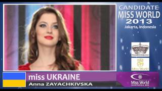 MISS UKRAINE Candidate Miss World 2013