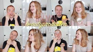 Een man beautyproducten laten raden?!
