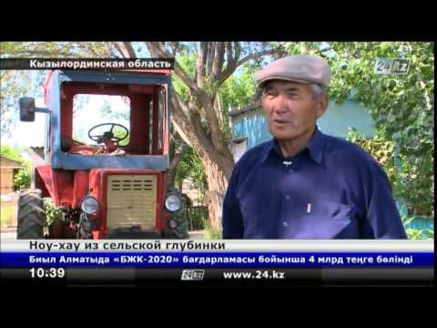 На юге Казахстана изобретатель сделал полезный тюнинг трактора