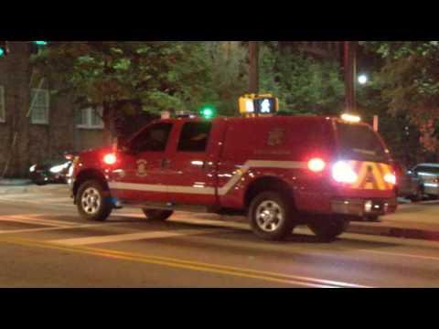 Atlanta City Firefighter at night on Peachtree Street 2