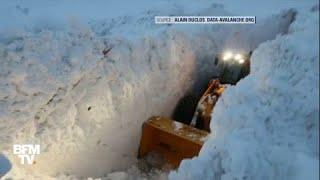 A Bonneval-sur-Arc, une coulée de neige a enseveli la seule route d'accès au village