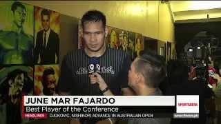 SMB's Fajardo, Santos talk about series vs Alaska, winning Philippine Cup title