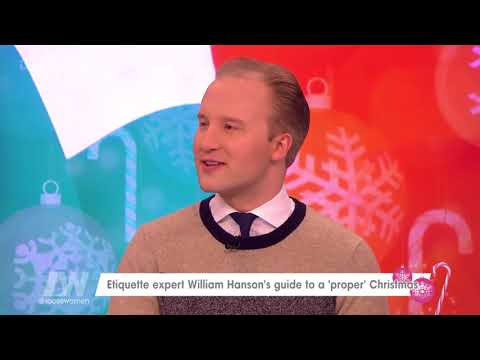 Etiquette Expert William Hanson Doesn't Like the Loose Women Christmas Decorations | Loose Women
