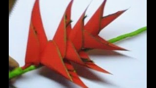 How to make Paper Flower Heliconia (Flower # 45)