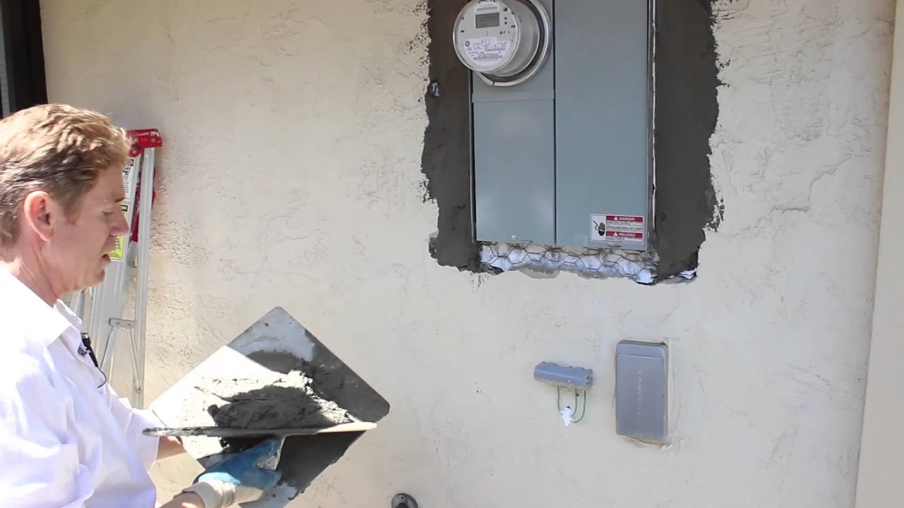 Electrical box plaster patching diy step by step repairs youtube solutioingenieria Image collections
