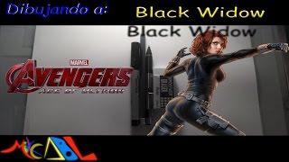 Dibujando a: Black Widow