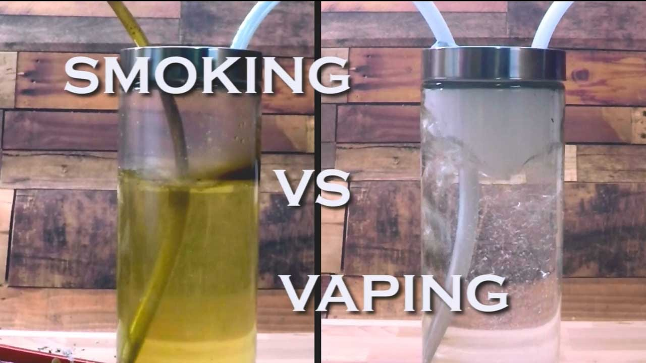 Vaping Vs Smoking Lungs >> Smoking vs Vaping - YouTube