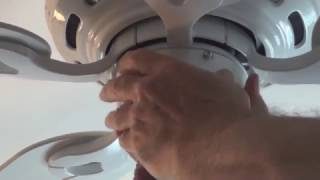 How to install a Hunter low profile ceiling fan