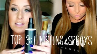 My TOP 3 ♥ Makeup Finishing Sprays!