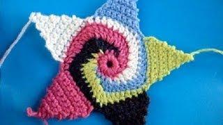 Вязание крючком Урок 254 Звезда Star motif