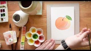 Gambar cover Paint a Ripe Peach in Watercolor~ Beginner's Tutorial