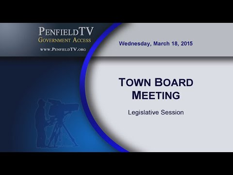 2015-03-18 PEN Town Brd Legislative Meeting