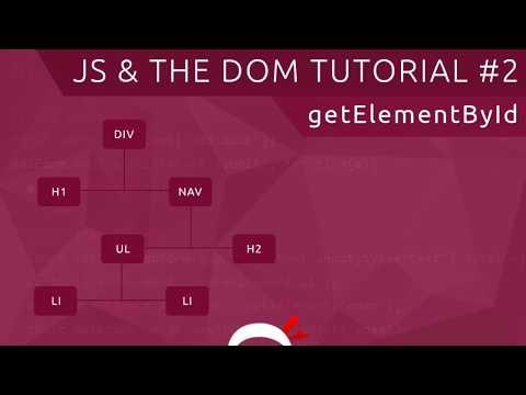 JavaScript DOM Tutorial #2 - Get Element By ID