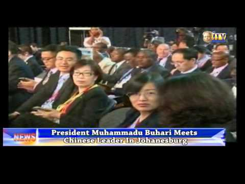President Muhammadu Buhari Has Met With Chinese Leader In Johannesburg