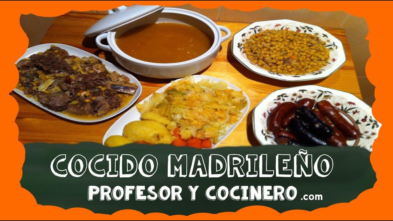 Profesor y cocinero 16 cocido madrile o en olla express - Cocido en la olla express ...