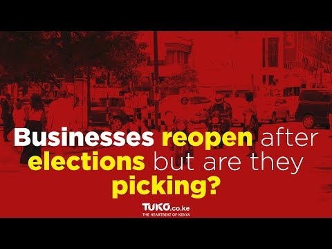 Businesses re-open after elections but are they picking?
