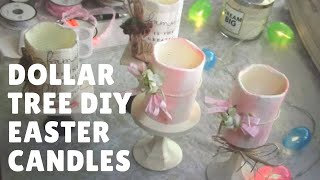Dollar Tree DIY/ Easter/Spring Decorative Candles ..