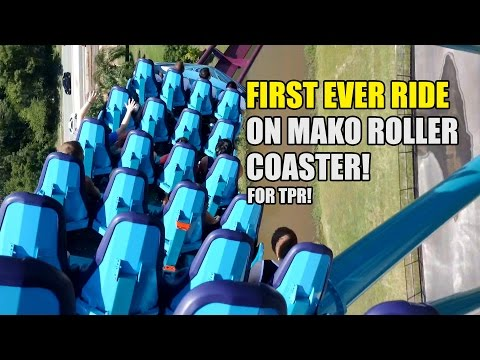 First Ever Ride on Mako Roller Coaster POV at SeaWorld Orlando for TPR!
