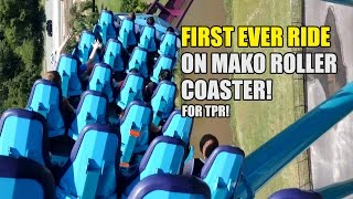 first ever ride on mako roller coaster pov at seaworld orlando for tpr