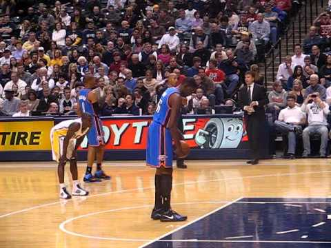 OKC Thunder Kevin Durant Shooting Free Throw - YouTube