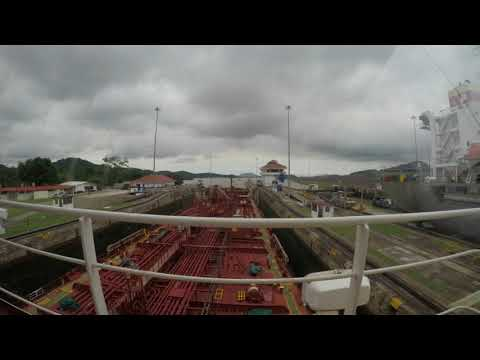 Panama Canal - MT Gulf Mews Transiting