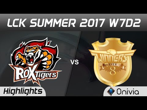 ROX vs E8W Highlights Game 1 LCK SUMMER 2017 ROX Tigers vs Ever8 Winners by Onivia
