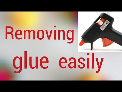 How to remove hot glue quickly and easily