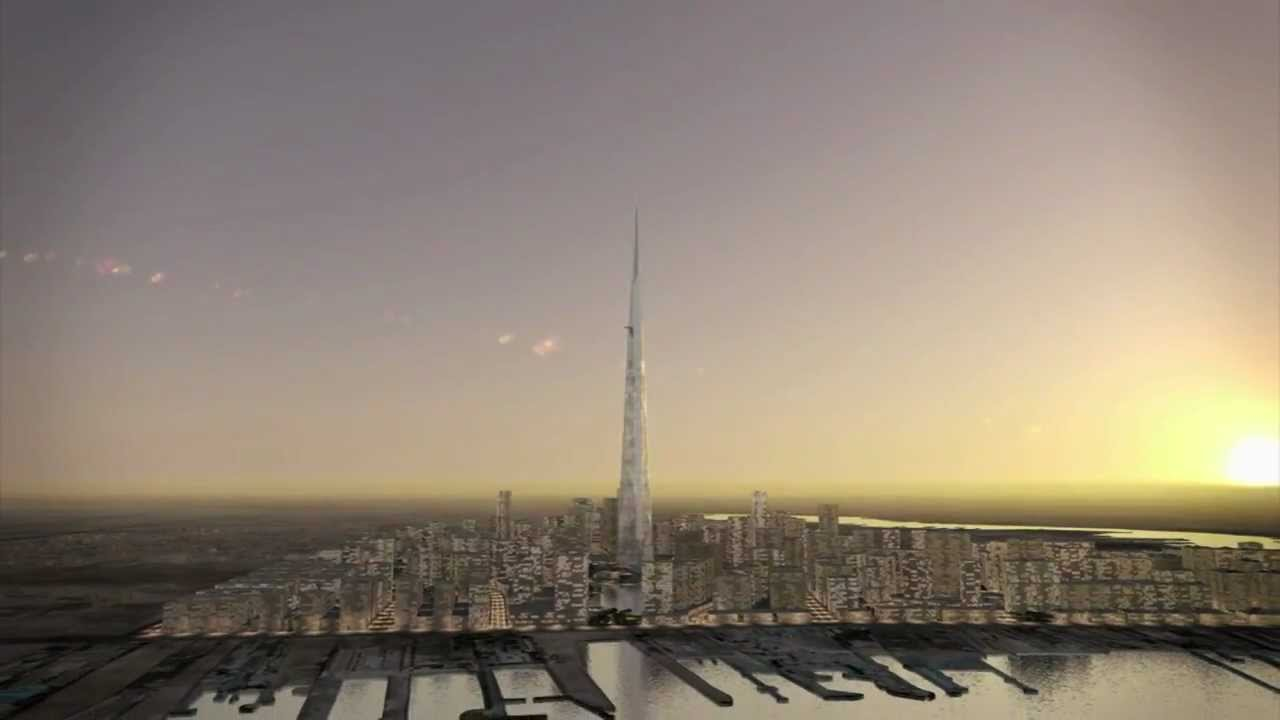 1-mile high Kingdom Tower Jeddah | youtube.com
