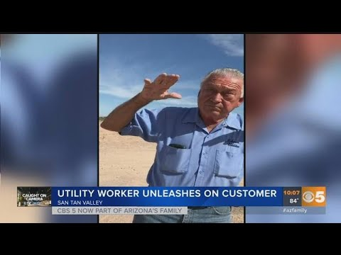 Caught on camera: Utility worker berates a customer