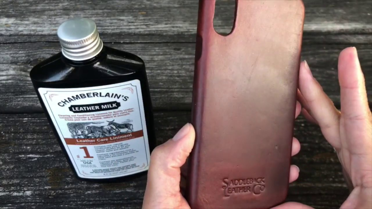 new product e9e00 c488a How to CLEAN iPhone X, Xs Max and Xr Boot Leather Case- Saddleback Leather