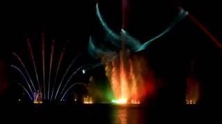 Світло-музичний плавучий фонтан «Roshen» у Вінниці, лазерне шоу до закриття сезону 2016 р.