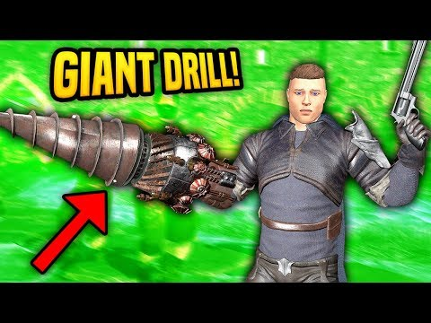 DEFENDING THE FORT WITH A GIANT DRILL - Blades And Sorcery VR Mods (Update 7)