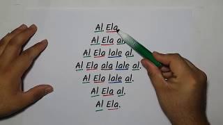 1.sınıf E-l-a Sesleri Hızlı Okuma Çalışması-yardımcı Öğretmen