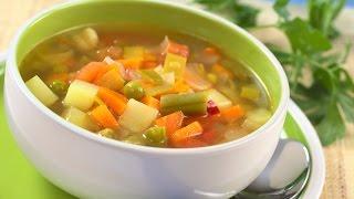 Суп овощной. Кастрюля. Рецепт.