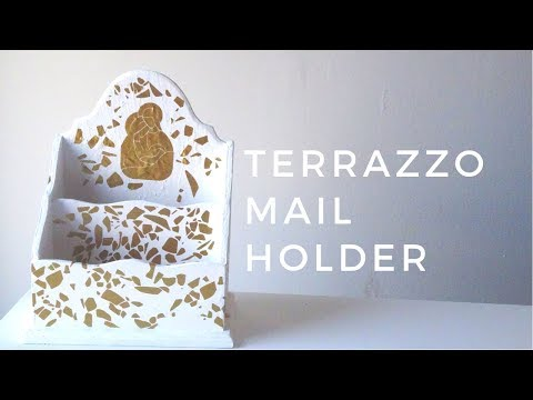 DIY TERRAZZO MAIL HOLDER |CRAFTCATOL