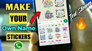 How To Create Your Name Sticker Or Any Text Sticker For Whatsapp | Aditya Knight