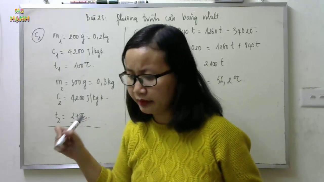 [ Vật lý 8 – Bài 25 ] Phương trình cân bằng nhiệt