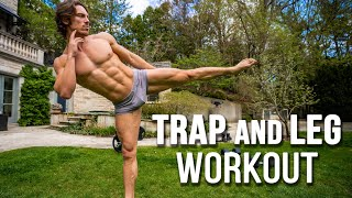 Full Leg & Trap Workout for Power & Aesthetics | Home Gym