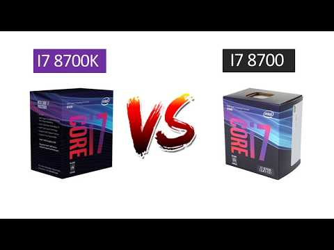 i7 8700 vs i7 8700k - GTX 1080 - Benchmarks Comparison