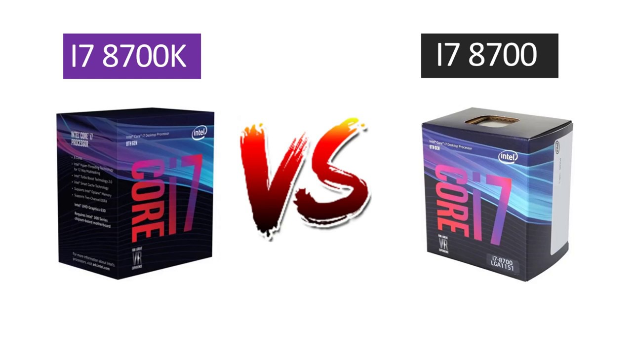 i7 8700 vs i7 8700k - GTX 1080 - Benchmarks Comparison