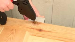 Tmel na dřevo KNOTTEC - Jak opravit poškozenou hranu a rohy na masivním dřevě