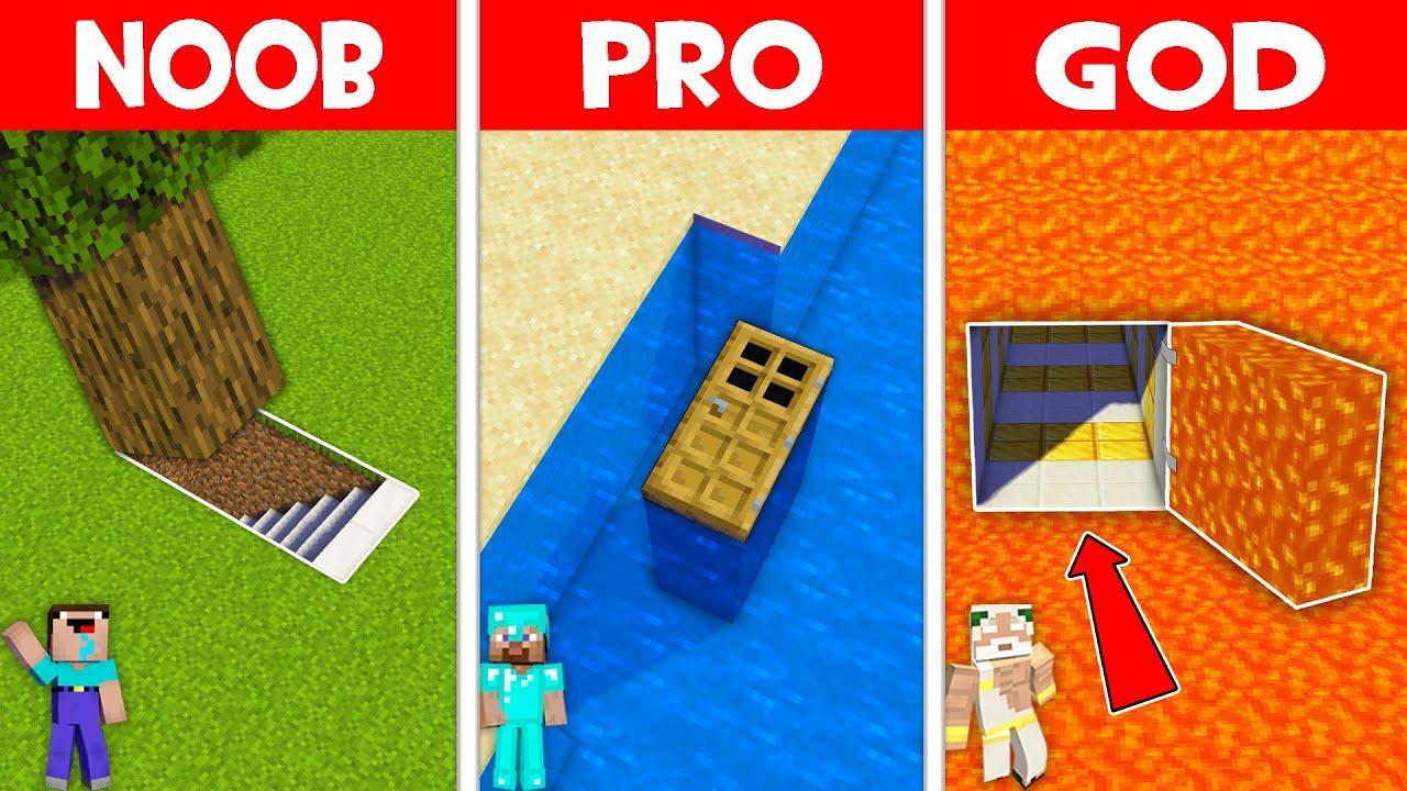 Minecraft NOOB vs PRO vs GOD: THE MOST HIDDEN BASE BATTLE! NOOB FOUND SECRET BASE! (Animation)