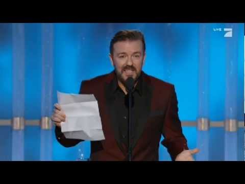 "Ricky Gervais mocks Jodie Foster ""The Beaver"""